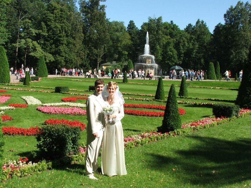 Петергоф, август 2005г. Наша свадьба.