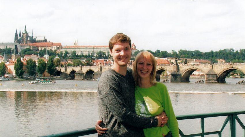 Прага, август 2005г. Свадебное путешествие.