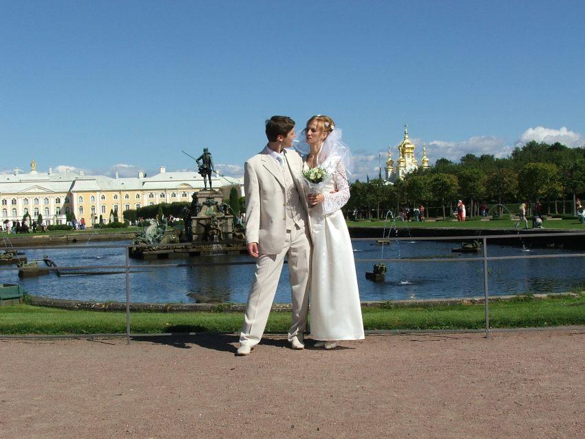 Петергоф, свадьба 2005г.